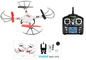 WLToys Quadcopter V686K 2.4GHz (kamera FPV WiFi 0.3MP HD, zasięg 150m)