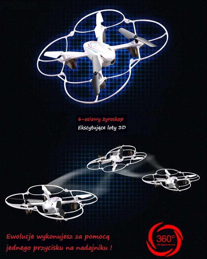 Syma X11C Quadcopter 4CH loty 3D